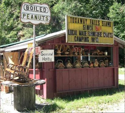 boiled peanuts stand