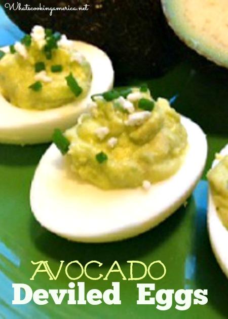 Plate of Avocado Deviled Eggs