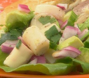 Avocado HeartsP alm Salad.