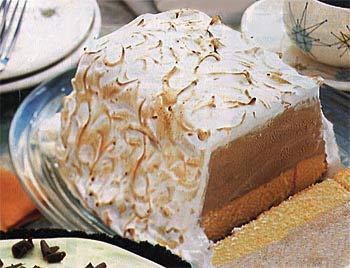Baked Alaska with Mocha Sauce