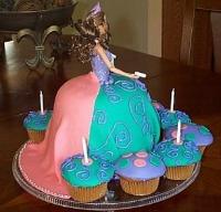 Barbie Cake back view