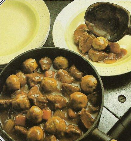 Beef Stew with Parsley Dumplings