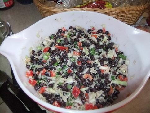 Black Bean Salad with Feta