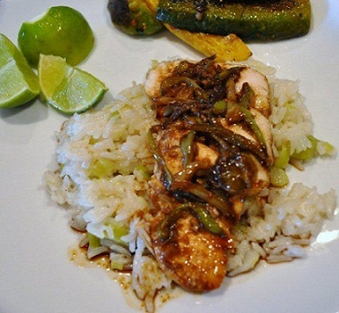 Chicken Breasts with Sweet Chiles