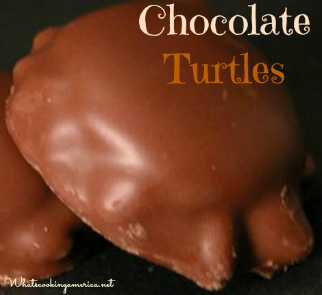 Chocolate Turtle Cookies Recipe Whats Cooking America