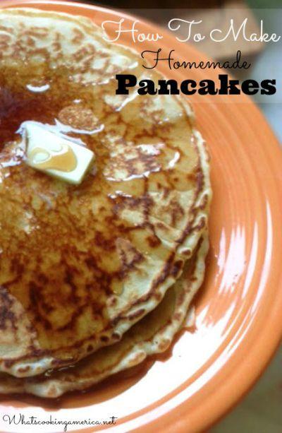 Classic Homemade Pancakes Recipe Whats Cooking America