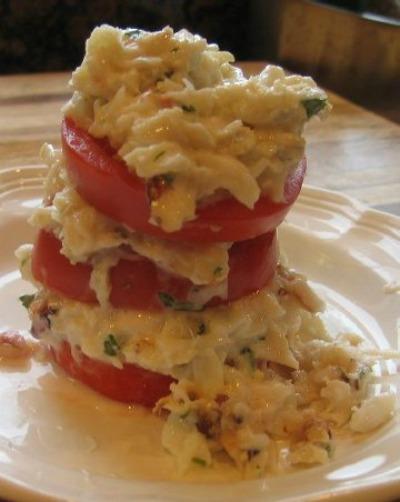Crab and Tomato Napoleon
