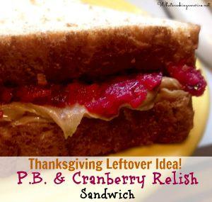 Cranberry Peanut Butter Sandwich