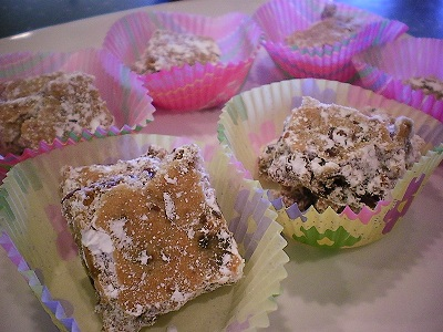 Date Nut Bars from dates recipe collection in paper baking cups