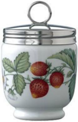 Egg Coddler Dish with strawberry design