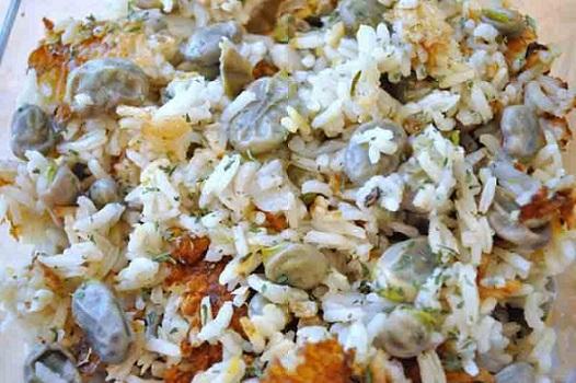 Fava Beans with Jasmine Rice