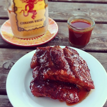 Fireball Whisky Glazed Baby Back Ribs