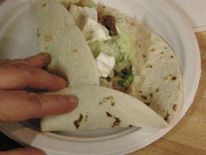 Folding up burrito