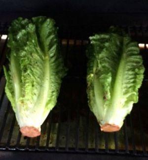 Grilling Romaine Lettuce