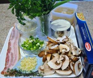 Herb Pasta Ingredients