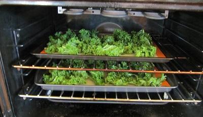 Baking Kale Chips