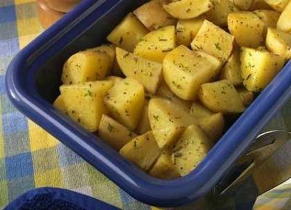 Microwave Roasted Potatoes Recipe Whats Cooking America