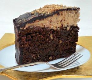 Slice of Chocolate Hazelnut Torte