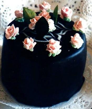 Rose Petit Four Cake