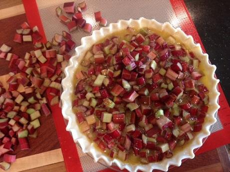 Rhubarb Custard Pie unbaked