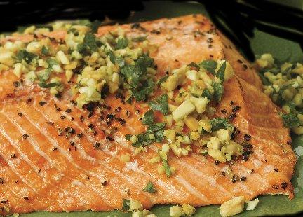 Baked Salmon Picatta
