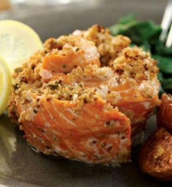 Salmon pinwheel recipe whats cooking america salmon pinwheels ccuart Image collections