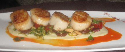 Seared Scallops with Autumn Spice