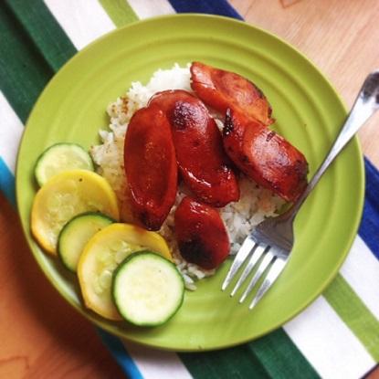 Hawaiian Shoyu Hot Dogs