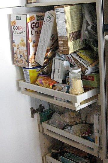 messy snack shelf