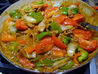 peppered beef stir fried