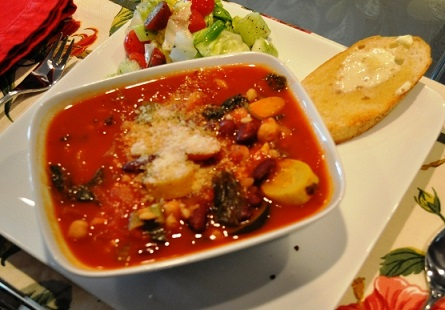Summer Vegetable Soup with Pasta