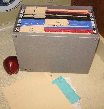 Organizing kitchen paperwork