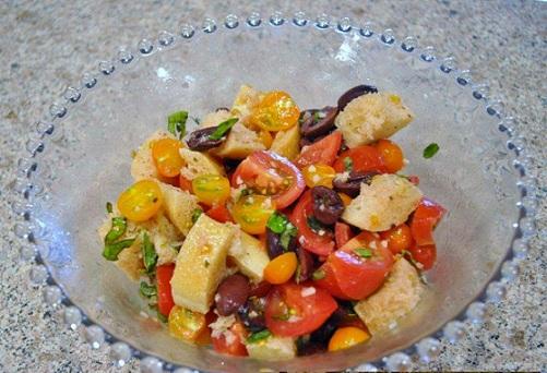 Tomato Bread Salad with Herbs Recipe