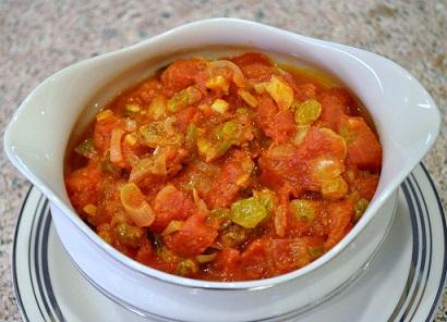 Tomato Raisin Salsa