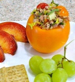 Summer Tomato Salad with tuna