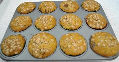 Zucchini Chocolate Muffins
