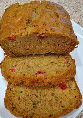 Zucchini Cranberry Bread