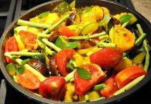 Zucchini Eggplant Tomato uncooked