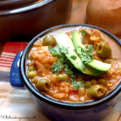 Asopao de Pollo - Puerto Rican Chicken & Rice Stew Bowl