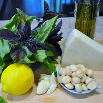 Macadamia Nut Pesto Ingredients
