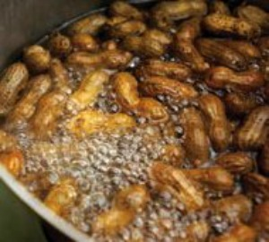 peanuts boiling in water