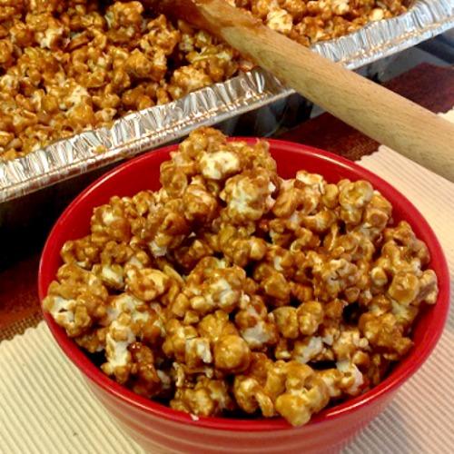 bowl of caramel corn