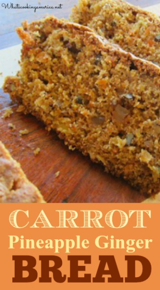 Carrot Pineapple Ginger Bread
