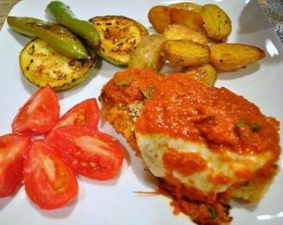 Herb Infused Chicken Parmesan