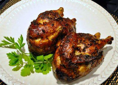 Cornish Game Hens with Lemon and Garlic Recipe: