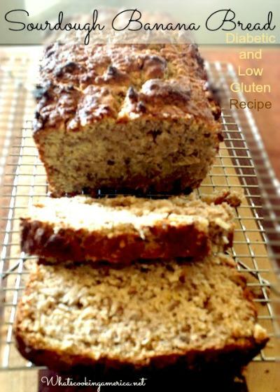 Diabetic-Sourdough Banana Bread