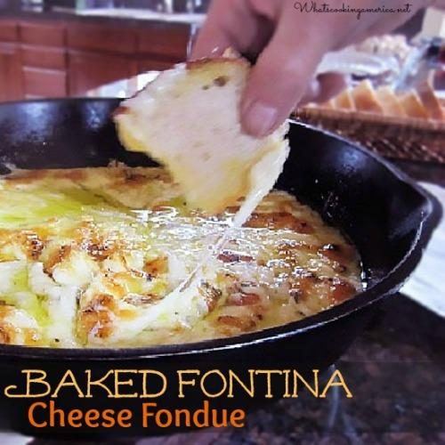 Fontina cheese fondue