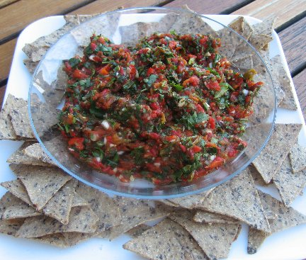 Roasted Chile Pepper and Tomatillo Salsa