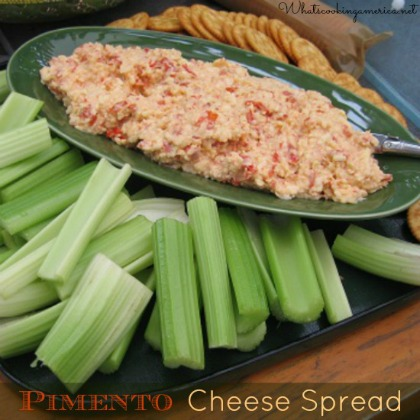 Tray of Pimentro Cheese Spread