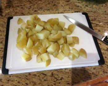 Potato Salad cut potatoes